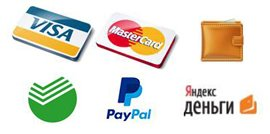Payment with Visa and MasterCard
