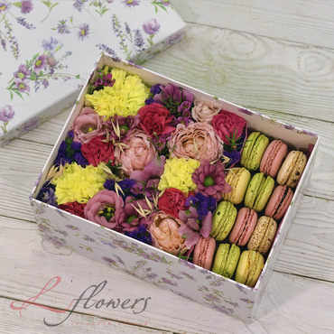 Macaroon boxes - Dream box - букеты в СПб