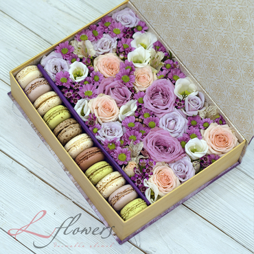 Macaroon boxes - Novel book - букеты в СПб