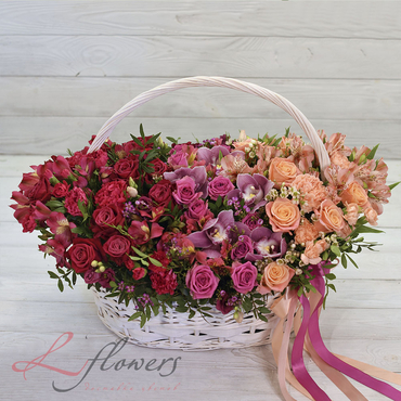Flowers baskets - Palmyra - букеты в СПб