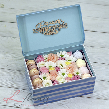Macaroon boxes - Pretty box - букеты в СПб