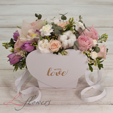 Flowers baskets - Love is - букеты в СПб
