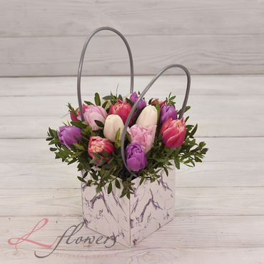 Flowers baskets - Marcipan - букеты в СПб