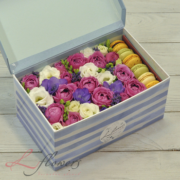 Macaroon boxes - Bubble box - букеты в СПб
