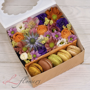 Macaroon boxes - October box - букеты в СПб