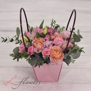 Flowers baskets - Vanilla - букеты в СПб